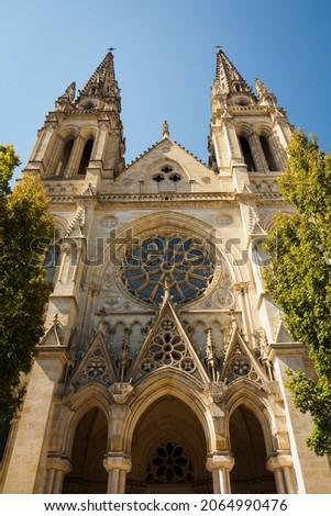 Exterior facade of the Saint Louis des Chartrons Catholic Church in Bordeaux, France