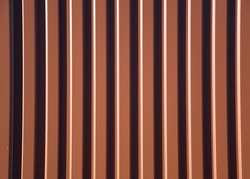 Exterior metal sheet wall cladding panels, Corrugated Steel Sheets texture, Concept image for exterior building material or architecture design background