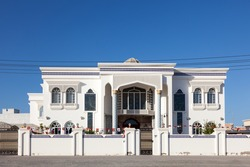 Exterior of a luxury residential house in Muscat, Sultanate of Oman, Middle East