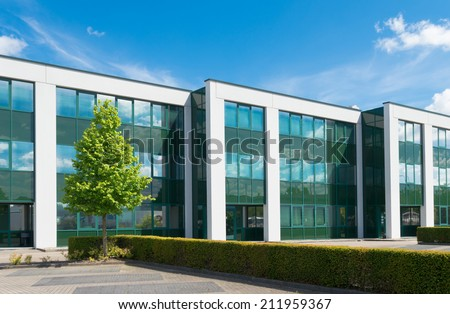 exterior of a modern office building Photo stock ©