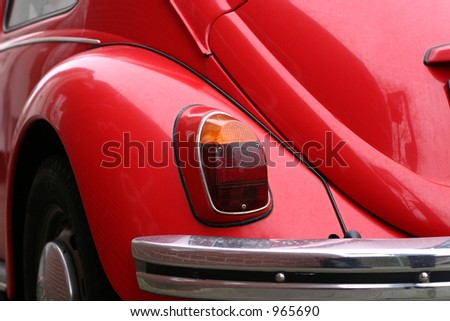 exterior of a red beetle