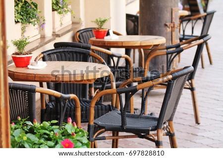 exterior of cafe #697828810
