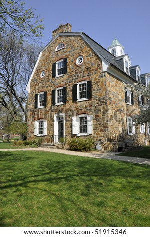 Exterior of Colonial Hall on the campus of Moravian College in Bethlehem, Pennsylvania