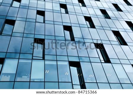 exterior of contemporary skyscraper
