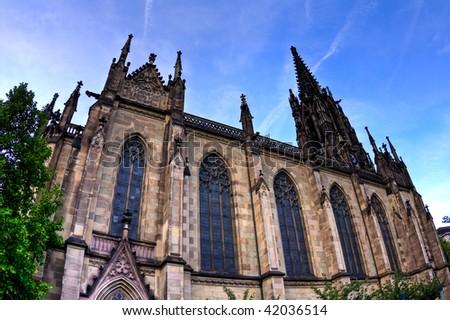 Exterior of Elisabethenkirche in Basel, Switzerland