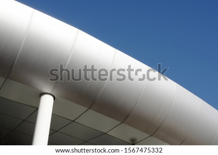 exterior of exterior building with curves #1567475332