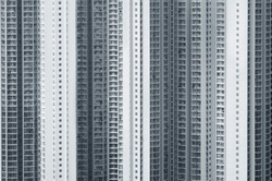 Exterior of high rise residential building of public Estate in Hong Kong