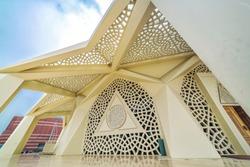 Exterior of Marmara University Faculty of Theology Mosque, turkish name is Ilahiyat Camii, in Uskudar district, Istanbul, Turkey
