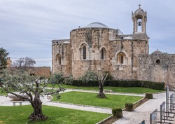 Exterior of Maronite church in St John Marcus Monastery in Old Town of Byblos, Lebanon, one of the oldest cities in the world