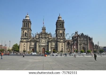 Exterior of Mexico City Metropolitan Cathedral