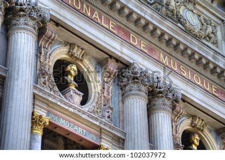 Exterior of Paris Opera Center, France
