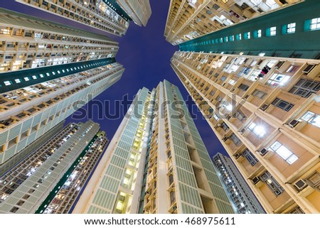 Exterior of residential building from low angle #468975611