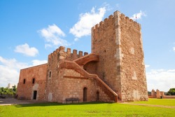 Exterior of The Fortaleza Ozama or Ozama Fortress, it is a sixteenth-century castle in Santo Domingo, Dominican Republic