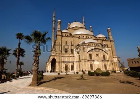 Exterior of the Muhammad Ali mosque in Cairo