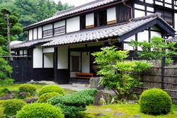Exterior of traditional Japanese folk house