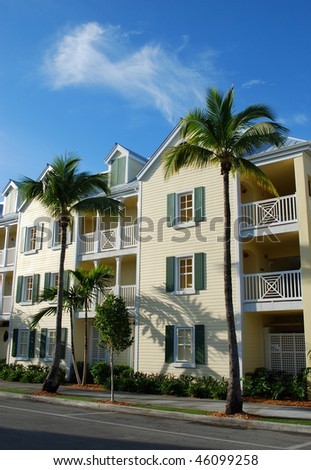 Exterior of wooden houses in Key-West, Florida, USA