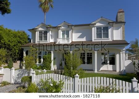 Exterior shot of a custom home in Newport Beach, CA.
