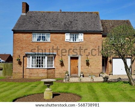 exterior view and garden lawn...