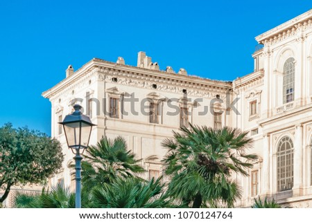 Exterior view of Barberini palace, Rome, Italy
