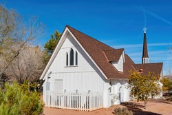 Exterior view of the Candlelight Wedding Chapel at Las Vegas, Nevada