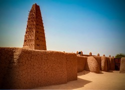 Exterior view to Grand mosque of Agadez in Niger