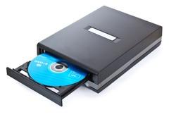 external CD DVD burner writer isolated on white