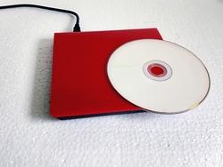 External DVD R Drive with a Blank DVD