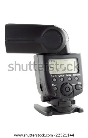 external flash isolated (with clipping path)