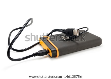external hard drive on a white background