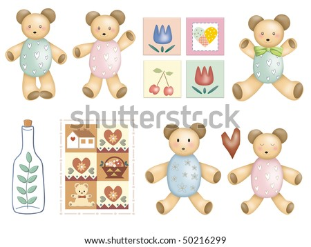 extra big vector animal set-bear