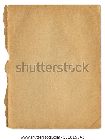 Extra large grunge antique old paper texture, clipping path included.