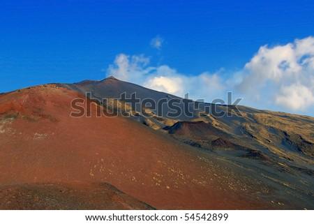 extraordinary lunar landscape near Mt. Etna, Sicily, Italy