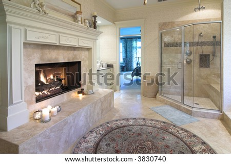 bathrooms floor tiles fireplace glass 11986
