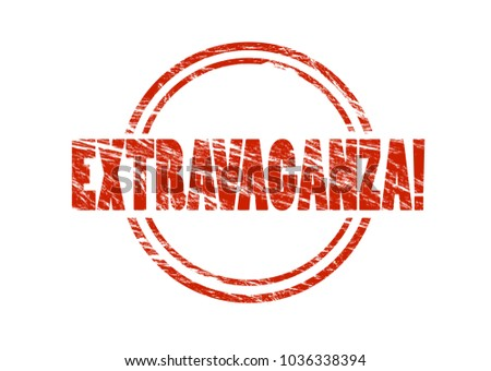 extravaganza! red vintage rubber stamp isolated on white background Stockfoto ©