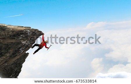 extreme climbing is his...