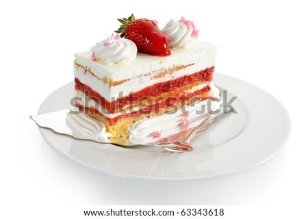 Extreme close-up image of delicious fruit cake