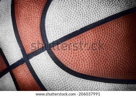 extreme close up of a basketball with photographic effect