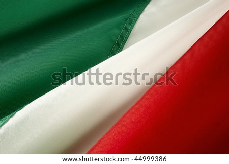 Extreme close up of wavy Italian flag