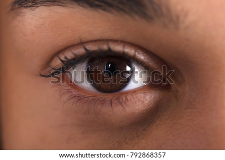 Extreme Close-up Photo Of African Woman's Eye #792868357