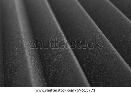 extreme closeup of a acoustic foam texture