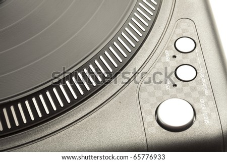 extreme closeup of a professional dj plate