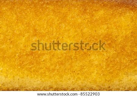 extreme closeup of a sweet sponge cake