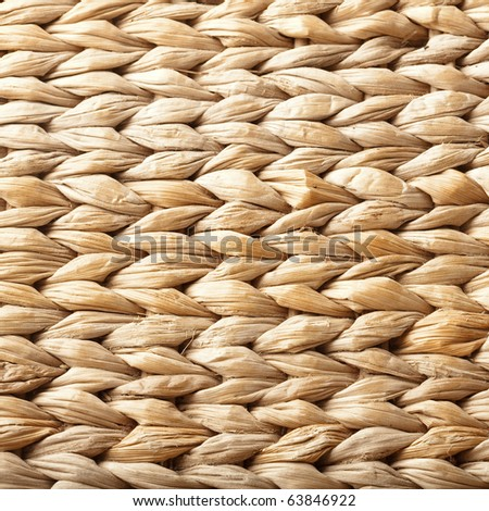 extreme closeup of a vintage wicker texture