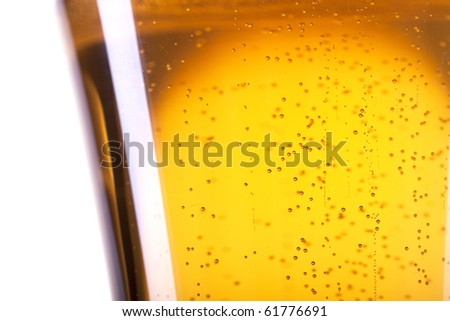 Extreme closeup of beer bubble