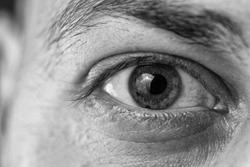 Extreme Closeup Shot Of A Beautiful Man Eye