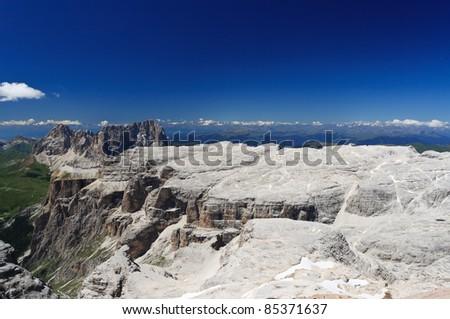 extreme landscape in Sella mountain, Trentino Italy