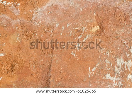 extreme macro of single brick texture with cement stain