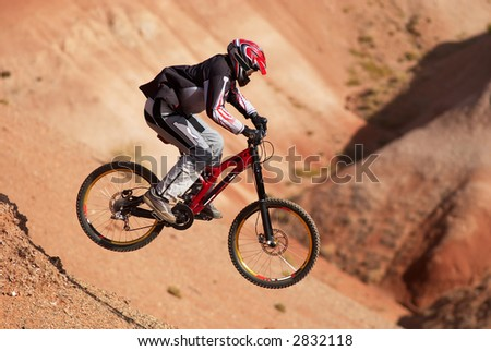 Extreme mountain biking - stock photo