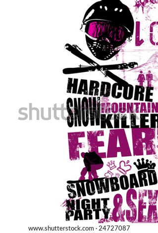 Extreme snowboard background (magazin, flyer, background, placard)