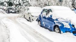 Extreme snowfall in european city
